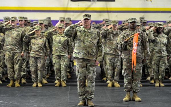 Deployment ceremony at Ware Shoals High School (April 10, 2018)