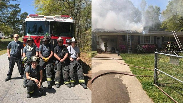 Firefighters respond to Woodruff house fire (Source: Woodruff FD)