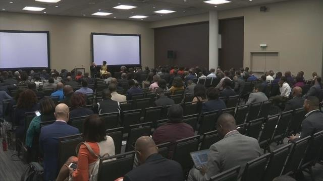 Thousands of young minority men attend Clemson's Men of Color National Summit. (FOX Carolina/ April 12, 2018)