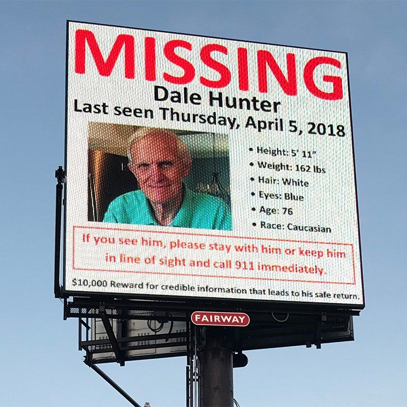 Billboard posted for Dale Hunter (Apr. 14, 2018/FOX Carolina)