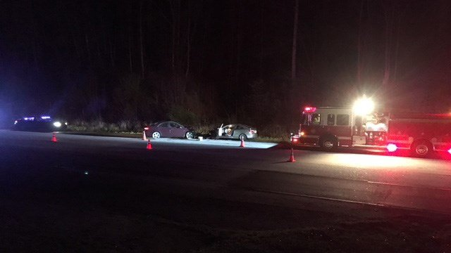 Scene of collision on US 25 at SC 11. (4/16/18 FOX Carolina)