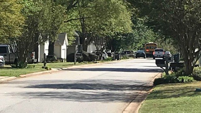 Scene of attempted kidnapping in Simpsonville. (4/17/18 FOX Carolina)