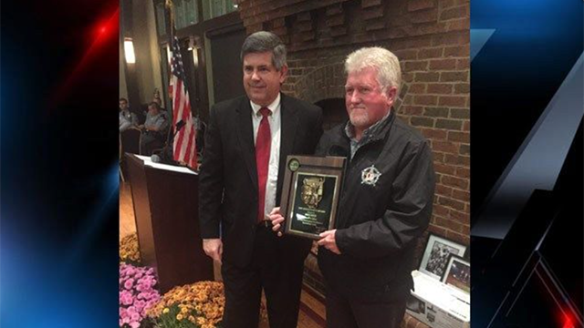 Deputy Smith winning an award for law enforcement excellence in 2015. (Source: 7th Circuit Solicitor's Office).