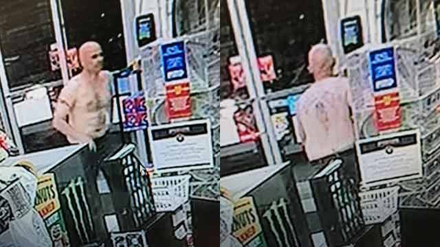 Surveillance footage of the suspect. (Source: LCSO).