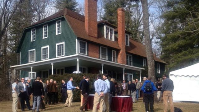 The announcement that Sierra Nevada will open a brewery in Henderson County is made at the Westfeldt House. (Jan. 25, 2012/FOX Carolina)
