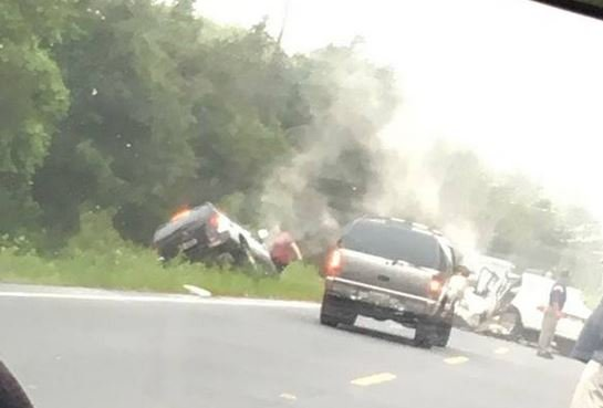 Scene of the crash on Ninety Six Highway (Source: Casey McQueen)