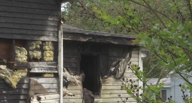 House fire on Birch Street. (4/24/18 FOX Carolina)