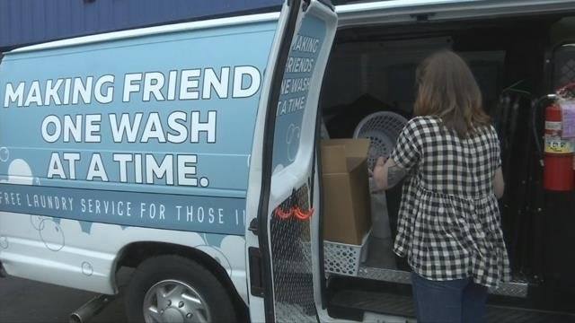 Mike Rowe's 'Returning the Favor' gets Greenville woman behind wheel of mobile laundromat