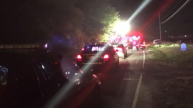 Scene of Anderson Co. crash (FOX Carolina/ 4/25/18)
