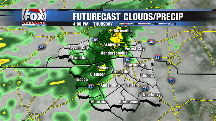Showers move out today, attractive  Thursday follows