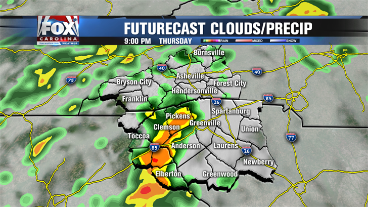 Showers Tonight; Widespread Rain and Storms Sunday