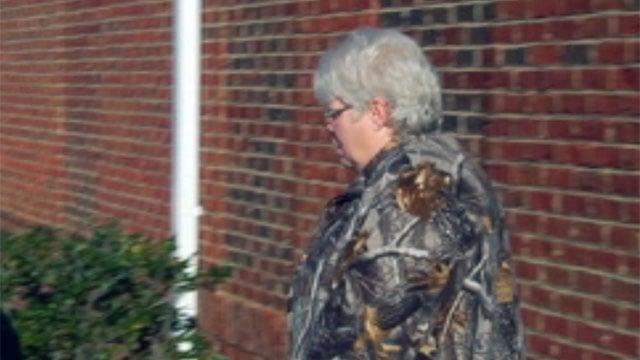 Joan Wood leaves the Gaffney Police Dept. (Jan. 30, 2012/FOX Carolina)