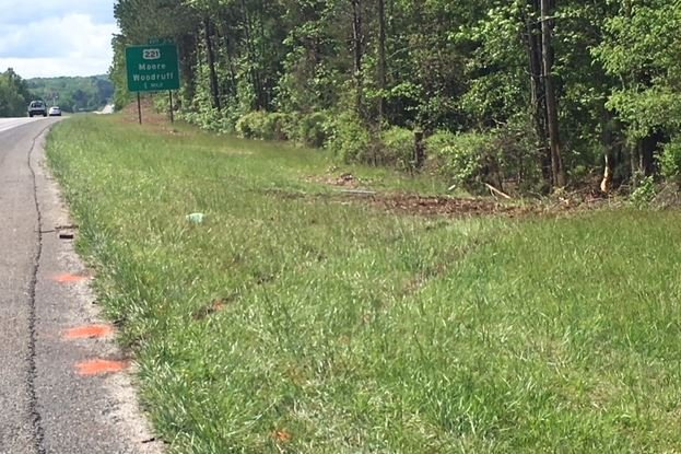 Area where the crash occurred on I-26 (FOX Carolina/ April 27, 2018)