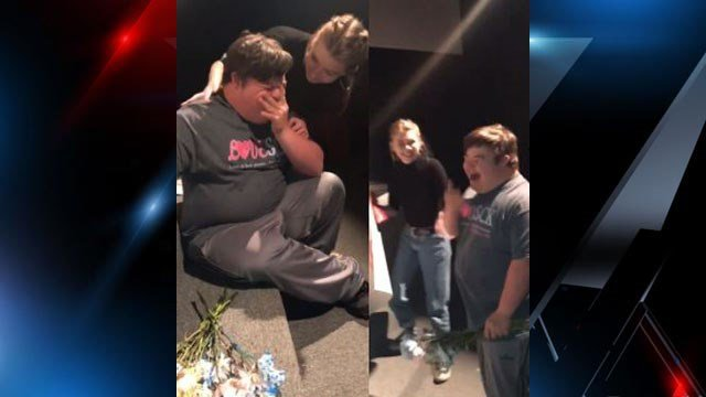 Yancey Co. student posts viral video of promposal to childhood best friend with special needs (Source: Rachel Newberry)