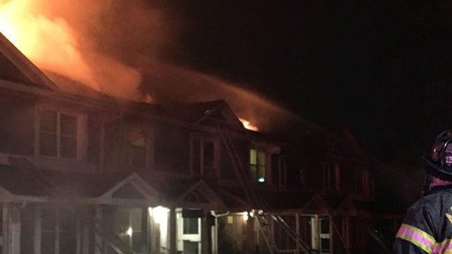 Hillcrest Apartments catch fire. (Source: Asheville FD)