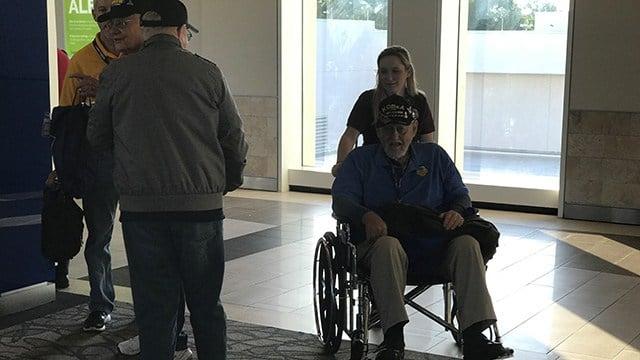 Honor Flight veterans taking off from GSP. (4/28/18 FOX Carolina)