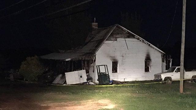 Scene of Hart Co. house fire (FOX Carolina/4/28/18)