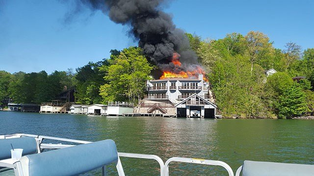 Scene of Lake Lure house fire (Source: Town of Lake Lure, NC)