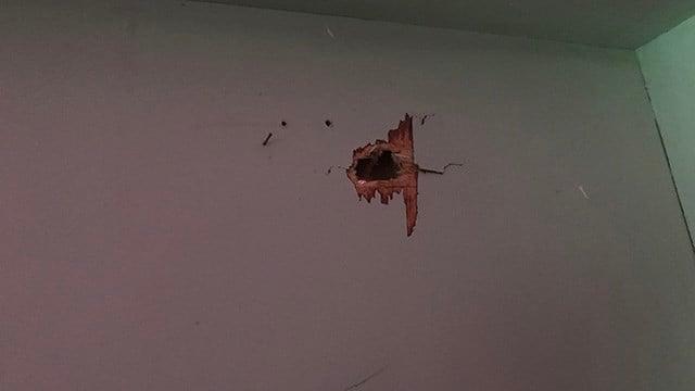 Damage to Foster's home on Overbrook Circle. (4/30/18 FOX Carolina)