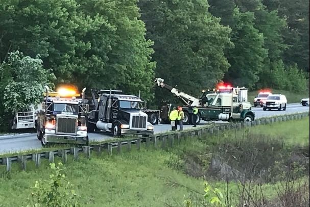 Scene of the crash in Newberry County (FOX Carolina/ May 1, 2018)