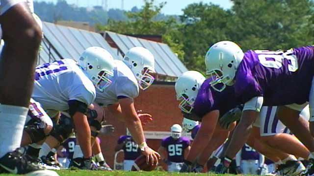 The Furman football team at practice. (File/FOX Carolina)