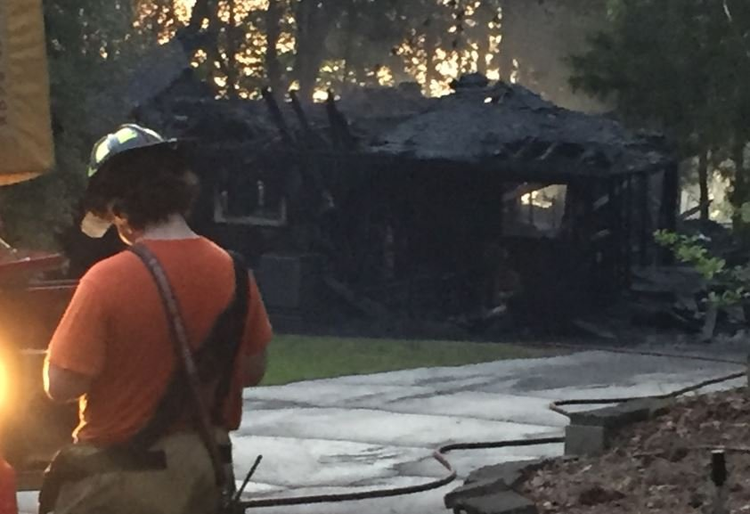 The home on Rita Drive was destroyed by fire this morning (FOX Carolina)
