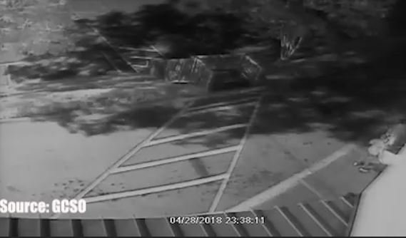 Surveillance of the fire being set (Source: GCSO)