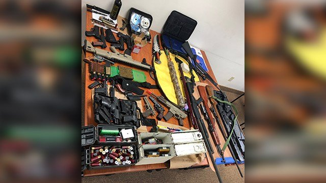 Weapons seized in hit list investigation (Source: MCSO)