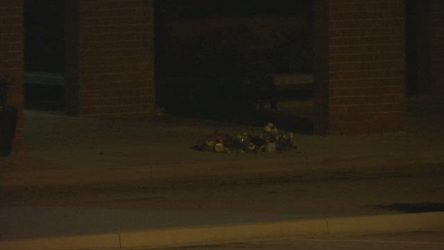 Flowers and candles seen outside Palmetto High School (FOX Carolina/ May 3, 2018)