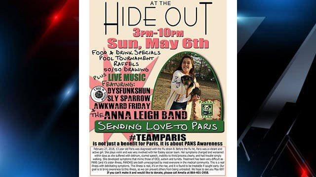 Fundraiser for teen with PANS (Source: Family)