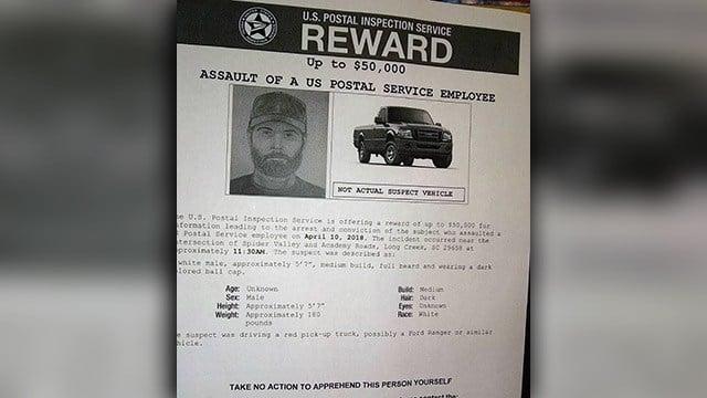 Sketch of suspect in postal worker assault (Source: iWitness)