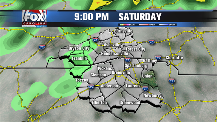 Tracking spotty showers and storms today, nothing severe though