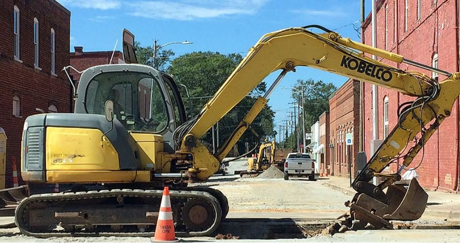Construction in Greer Station (Source: FutureGreer.com)