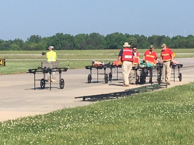 Disaster drill at GSP Airport (May 9, 2018/FOX Carolina)