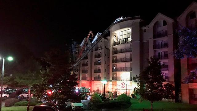 Fire at Brio Condominiums (May 10, 2018/FOX Carolina)