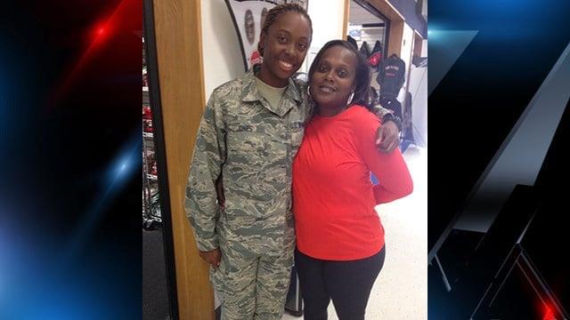 Kaneesha Jones (left) and her mother (right). (Source: Family)