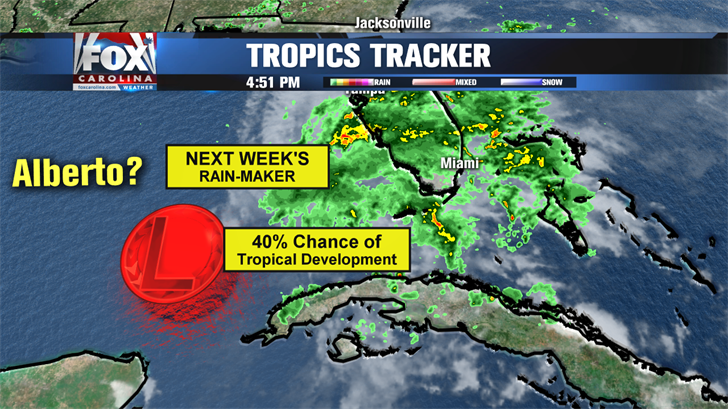 Chance for tropical development in the Gulf of Mexico