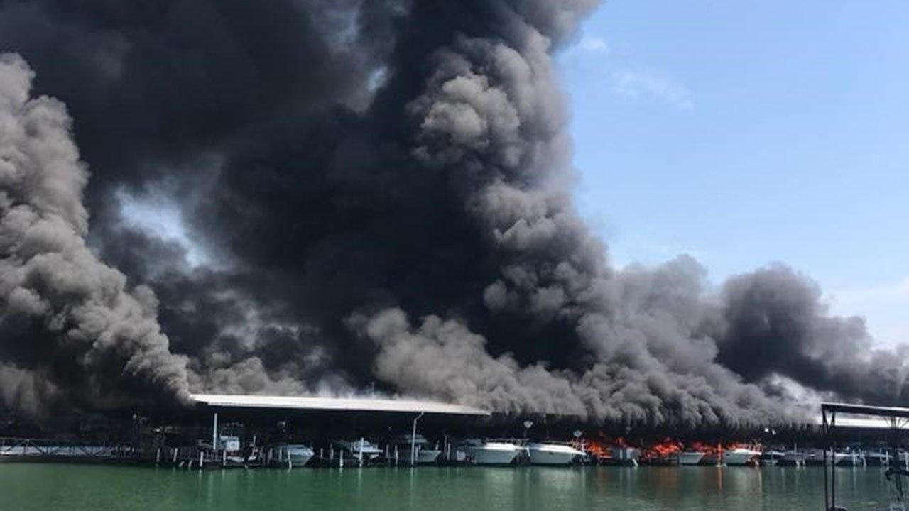 Fire destroys boats at Portman Marina (Source: Jeffrey Scott)