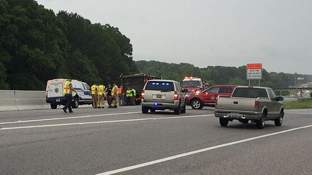 Deadly crash on I-385 south (May 15, 2018/FOX Carolina)