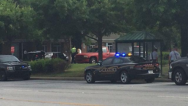 Death investigation at bus stop (May 15, 2018/FOX Carolina)