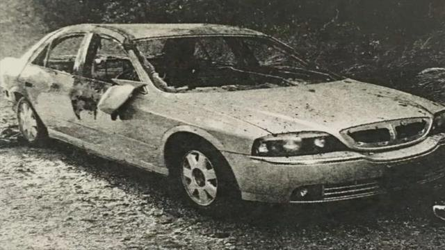 Burned out vehicle belonging to George (Source: Officials)