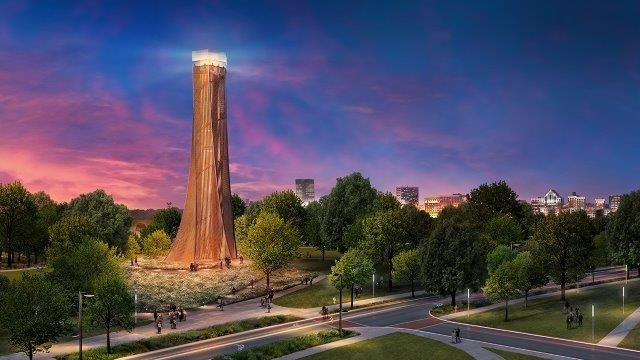 Artist rendering of the observation tower (Source: City of Greenville)