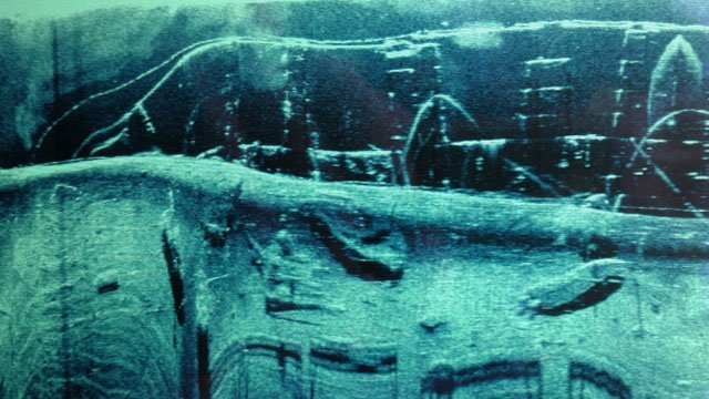 Fish finder image of the sunken boats (Source: Dwyane Hicks)