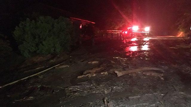 A look at roadway conditions along Hwy 176 near Tryon, NC (FOX Carolina/ 5/18/18)