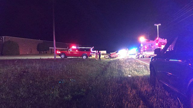 Scene of fatal head-on collision on US 76 near Grain Bin Road. (5/19/18 FOX Carolina)