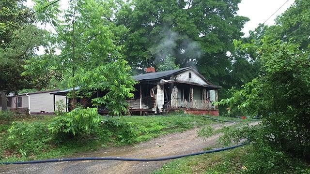 House fire on Bethune Street. (5/20/18 FOX Carolina)