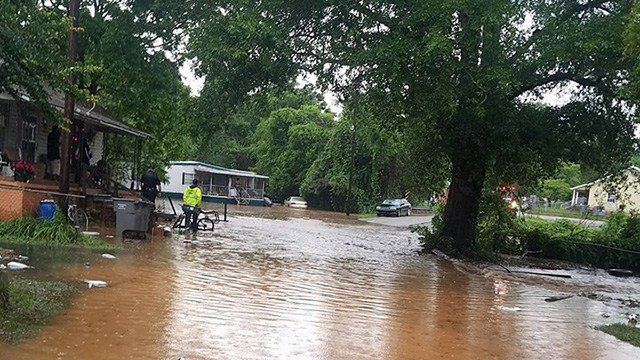 Flooded home on Ross Street. (Credit: Carrie G.)