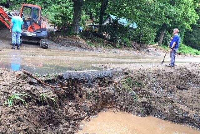 Mud slide aftermath in Polk County (FOX Carolina/ May 22, 2018)