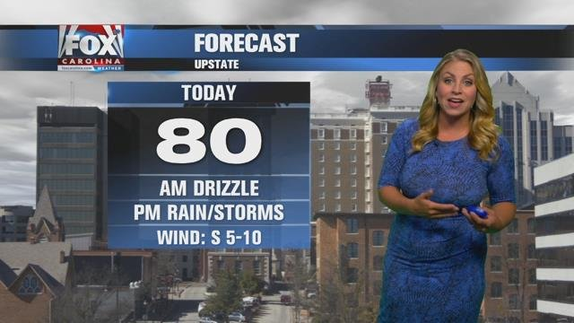 Nicole: AM drizzle, PM rain and stormy possible Tuesday