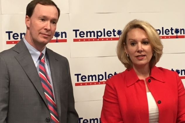 Solicitor Walt Wilkins (left) and Catherine Templeton (right) (FOX Carolina/ May 22, 2018)